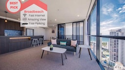 Gold Coast Broadbeach Holiday 2bed2bath Walk to Beach+parking Qbr004