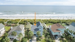 New Listing! The Nut House W/ Oceanfront Porch 4 Bedroom Home